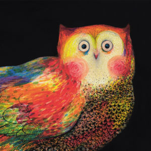 Kunstvoll illustriertes Buch für Kinder: Etwas Schwarzes